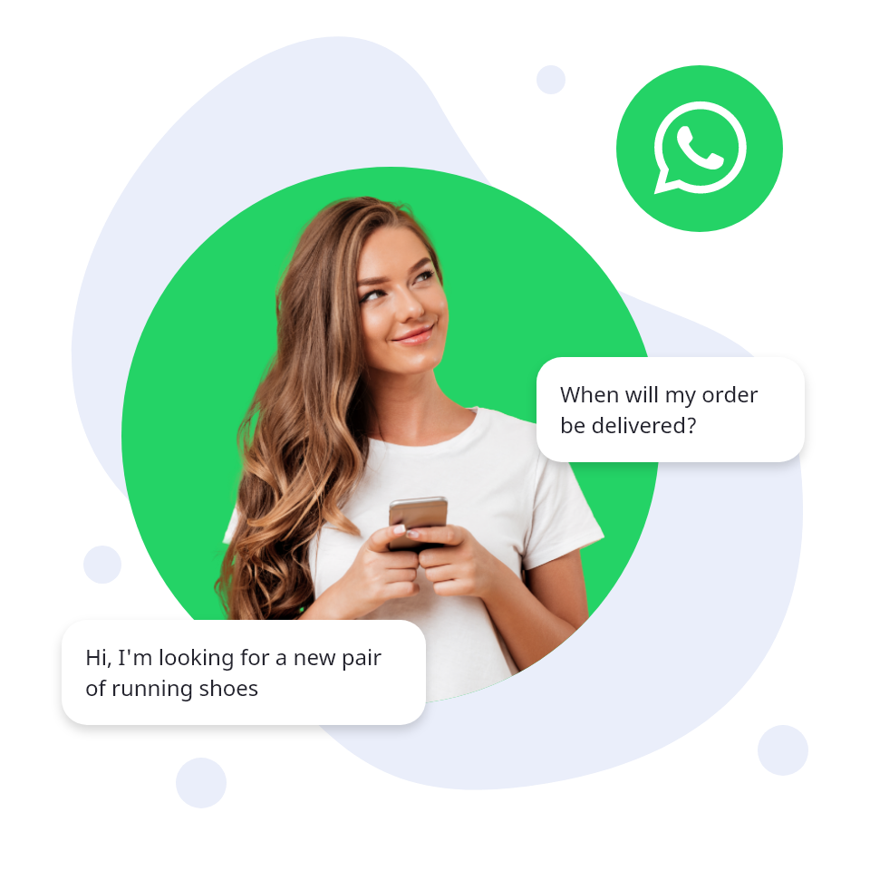 WhatsApp Business conversation