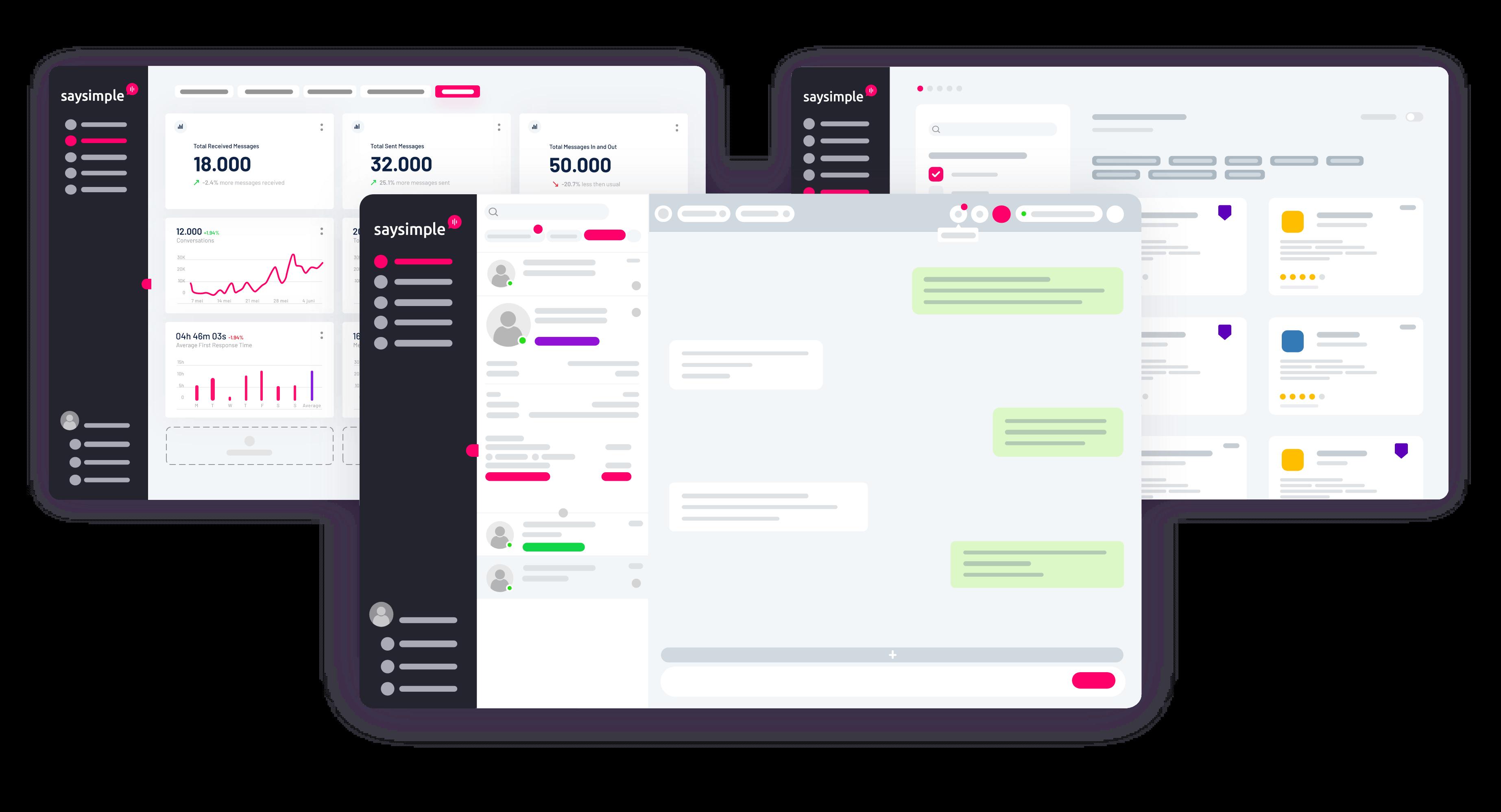 Inbox, Insights, Marketplace