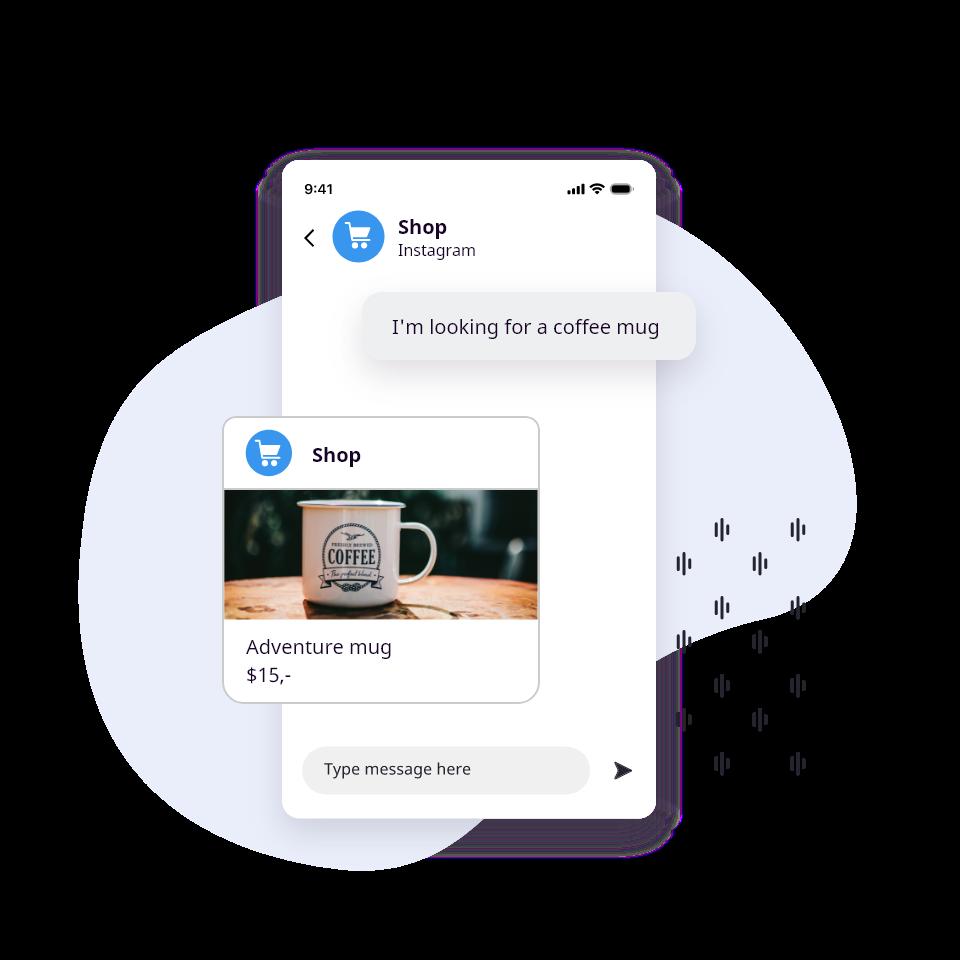 Instagram Messaging - support conversation example
