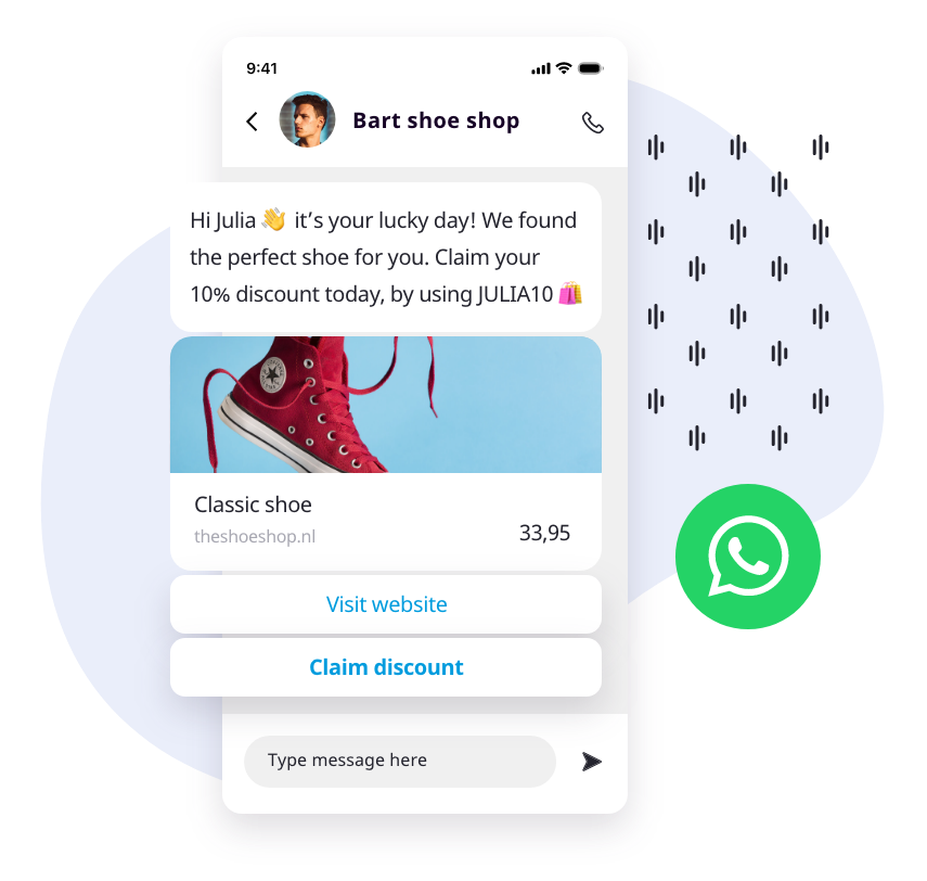 WhatsApp template for ecommerce brands