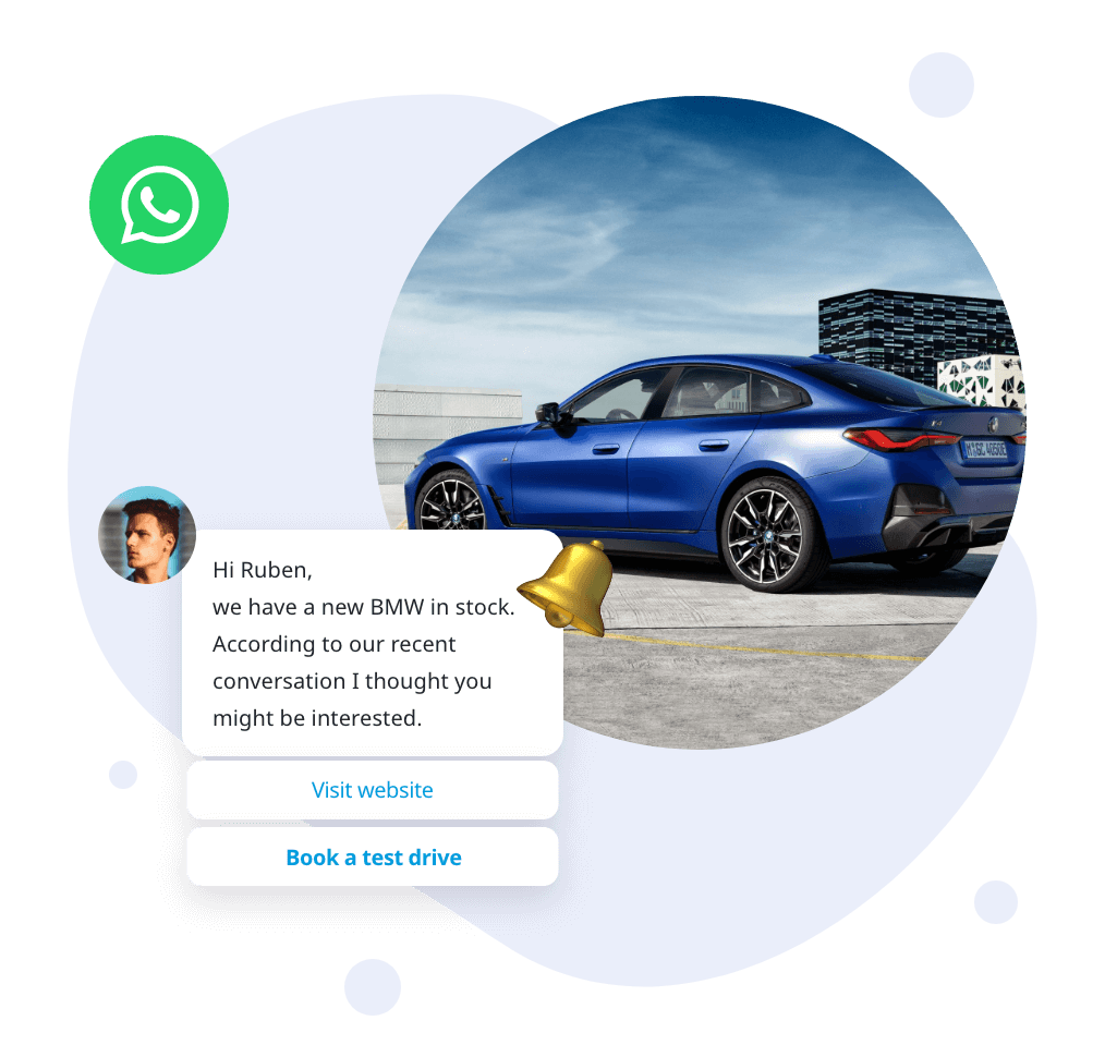 WhatsApp for Automotive - car launch update